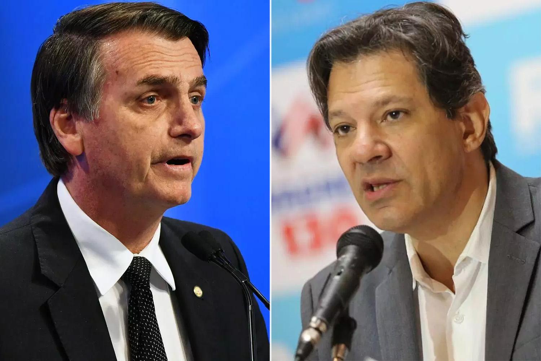 Bolsonaro e Haddad fazem o segundo turno das eleições presidenciais