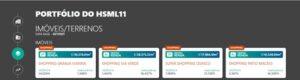 Vacância dos imóveis do HSML11. Fonte: Status Invest
